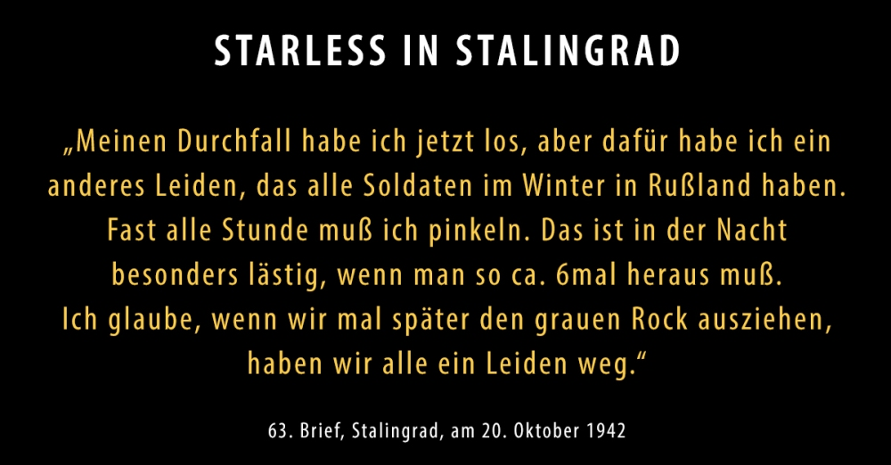 63 brief 20 oktober 1942 starless in stalingrad. Black Bedroom Furniture Sets. Home Design Ideas