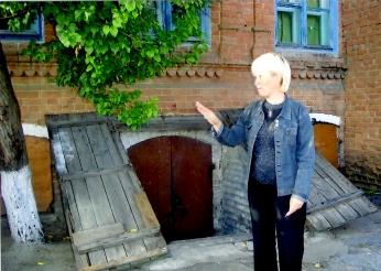 Kellereingang in Dubowka